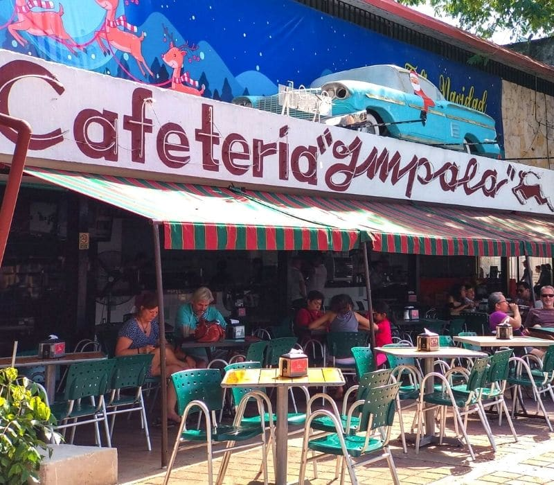 vintage looking cafe, one of the things to do in Merida, Mexico