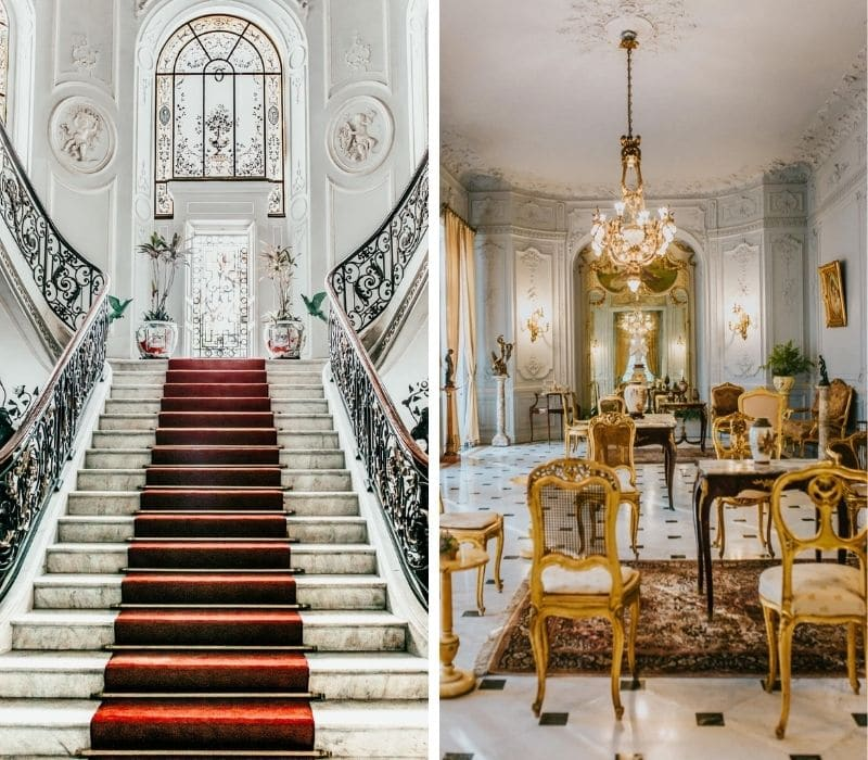 classical european decor inside a historic mansion in Instagrammable Merida, Mexico