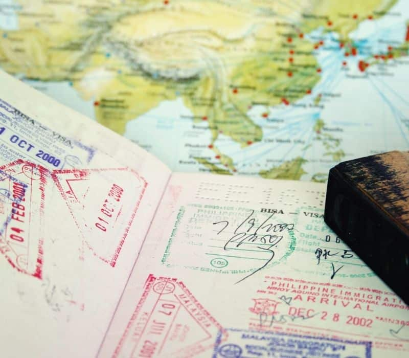 passport with stamps | Solo travel anxiety