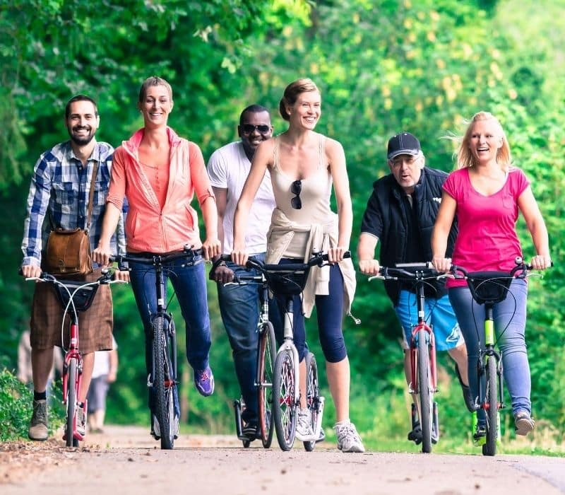 group bike tour with six people - Mexico Solo Travel