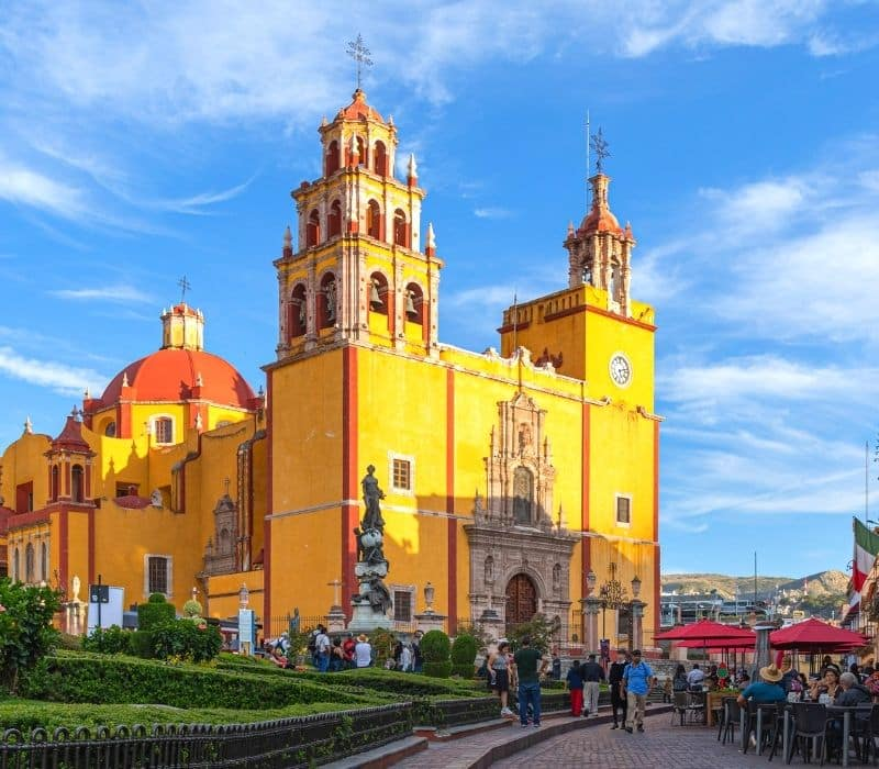 large yellow church