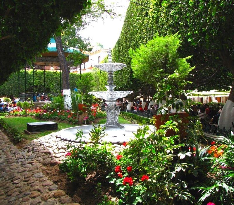 Fountain in a lovely garden