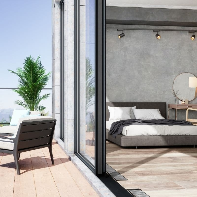 bedroom and terrace