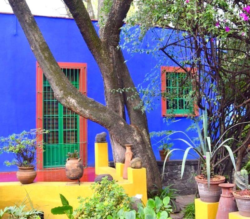 exterior of a blue house (casa azul), the frida kahlo museum | 4 day mexico city itinerary