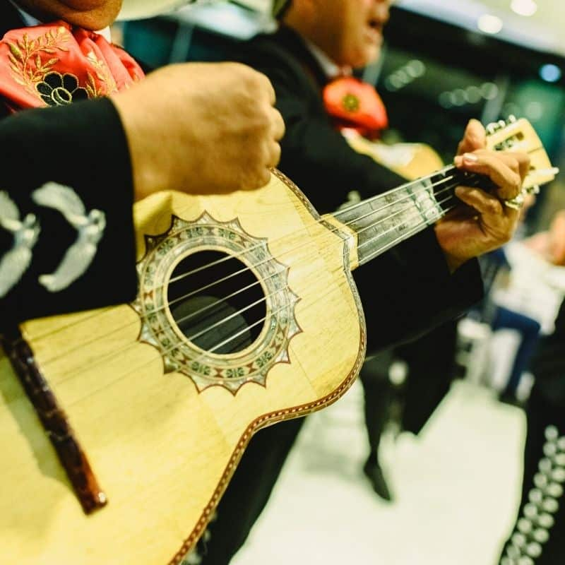 Mariachi band playing music