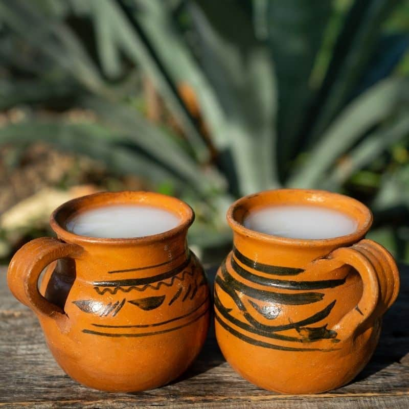 Two cups of pulque