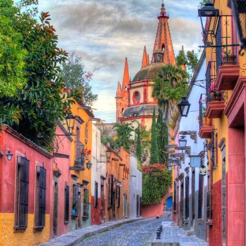 colorful street in San Miguel De Allende Mexico
