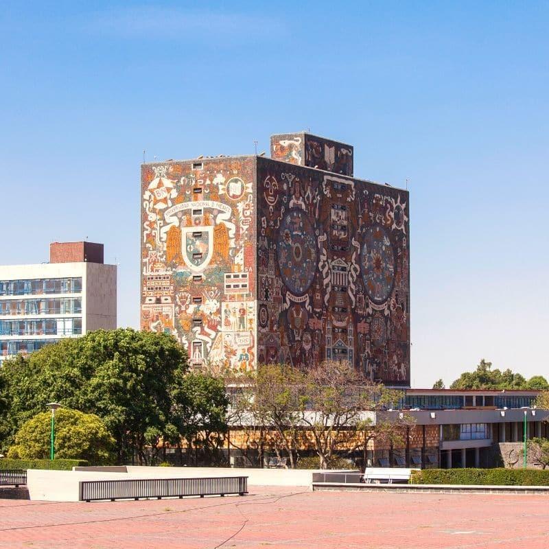 UNAM college campus buildings