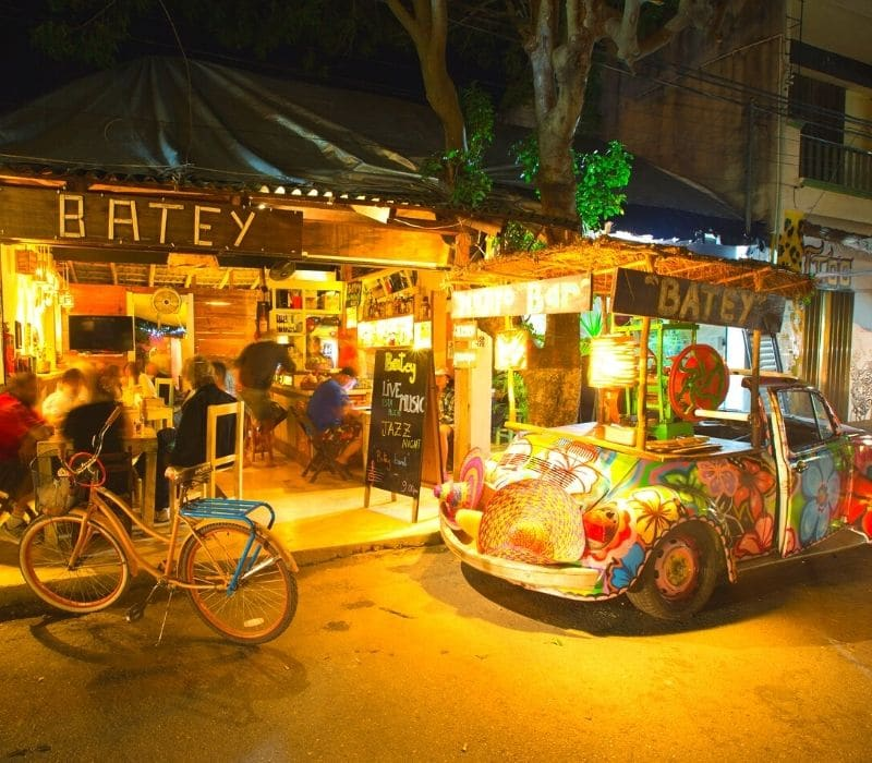 Batey bar in downtown Tulum