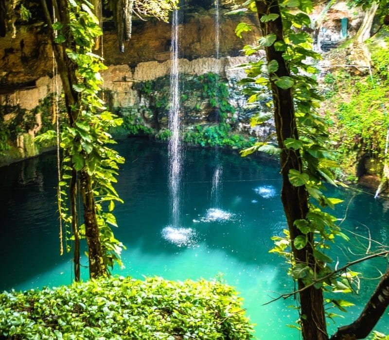 cenote natural swimming pool