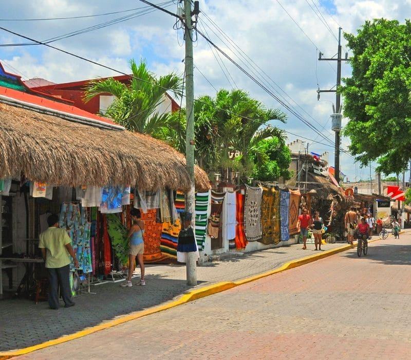 Boho shopping in downtown Tulum