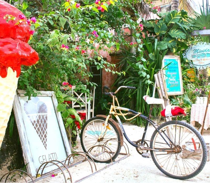 bike rentals on the beach in Tulum