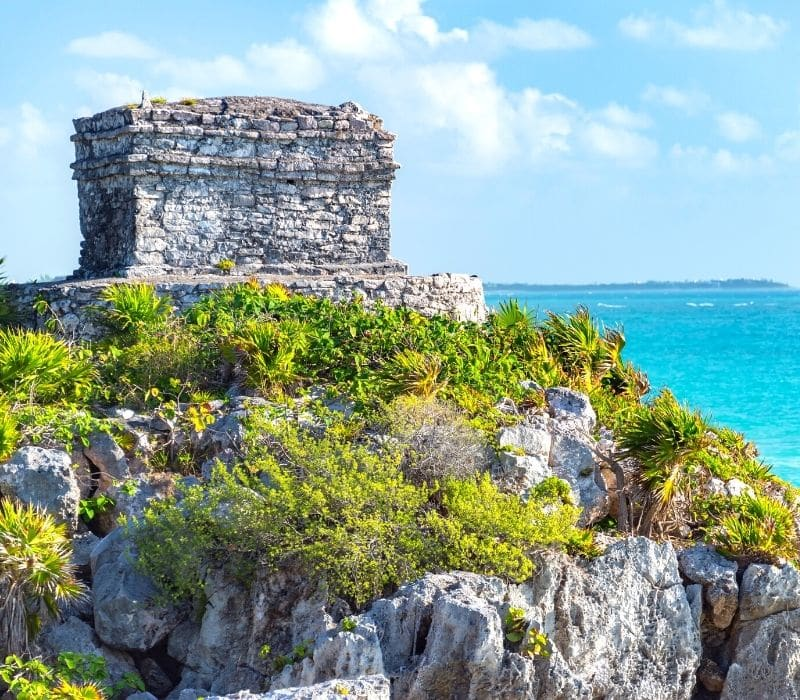 Mayan ruins of Tulum Ruins on the beach