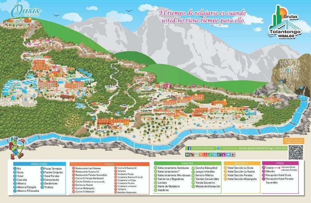 map of facilities - Visit Las Grutas Tolantongo