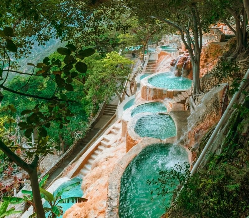 blue water and natural infinity pools | Visit Las Grutas Tolantongo | unique places to visit in Mexico