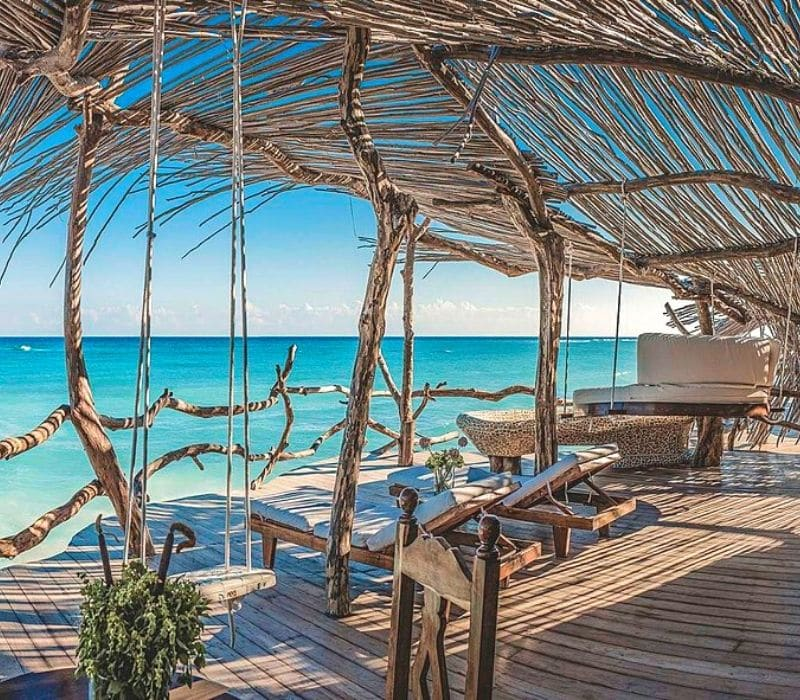 Azulik Resort in Tulum is one of the most beautiful eco-hotels in the world.