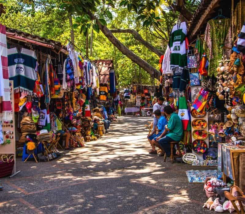 isla rio cuale outdoor shopping market to buy mexico souvenirs | things to do in puerto vallarta mexico