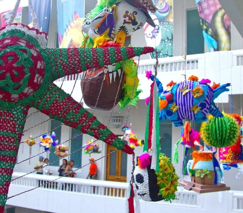 colorful mexican folk art museum | Mexico City historic center