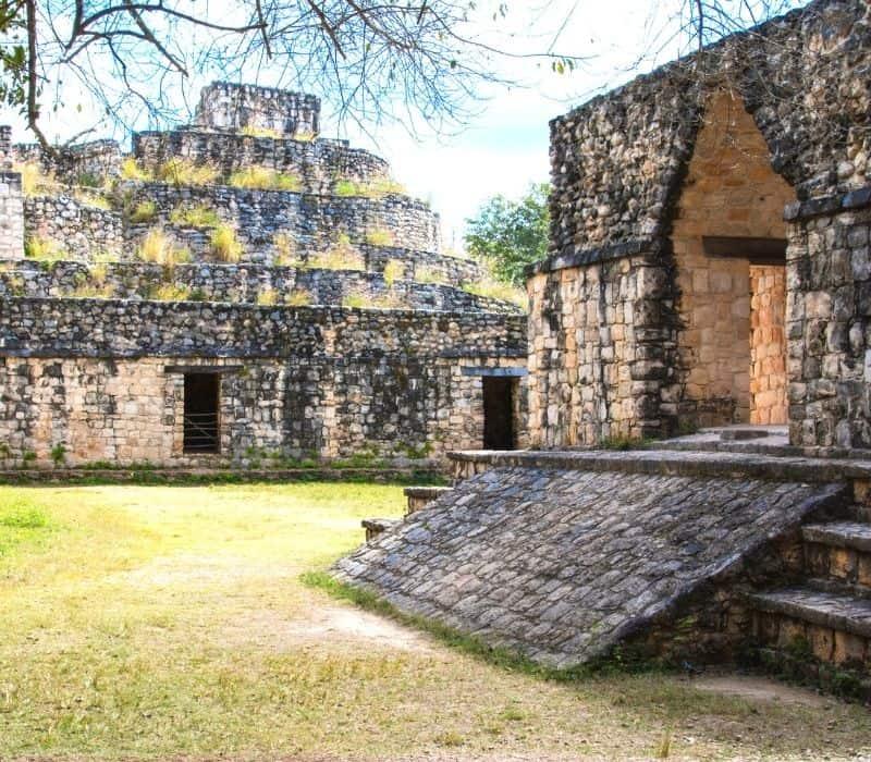 stone temples at Ek-Balam Best Mayan Ruins in the Yucatan