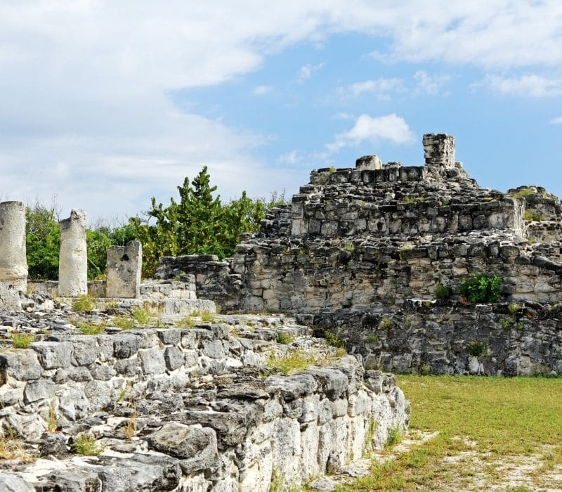 stone temple at El Rey, Cancun, Best Mayan Ruins in the Yucatan