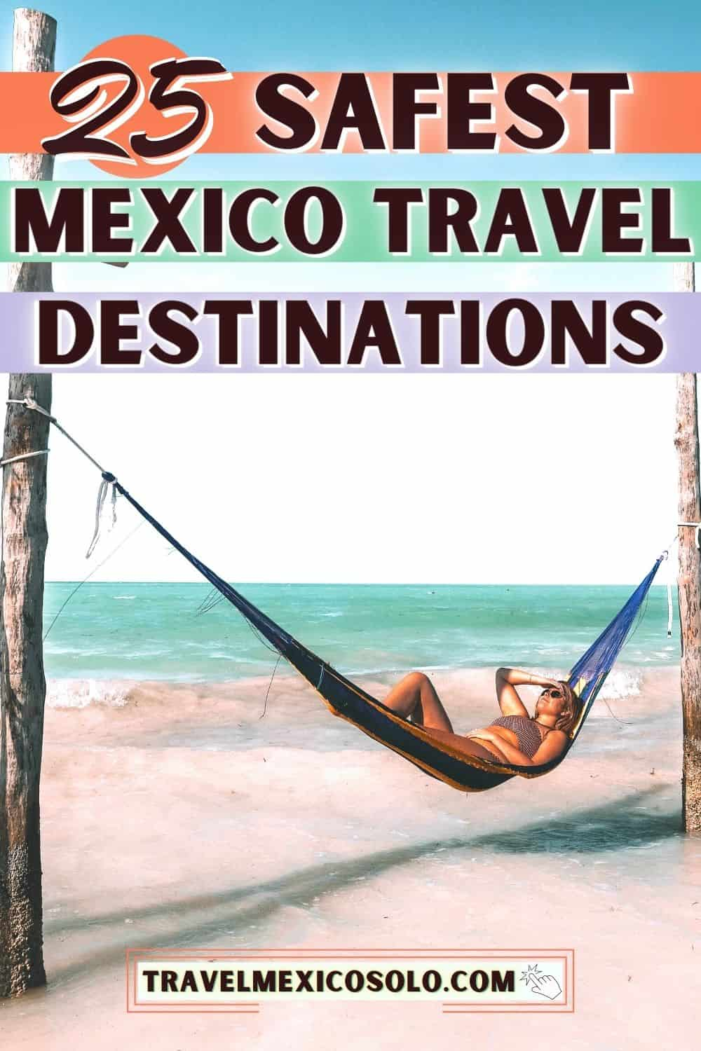 woman laying on a hammock on a beach in one of the safest cities in mexico, holbox island